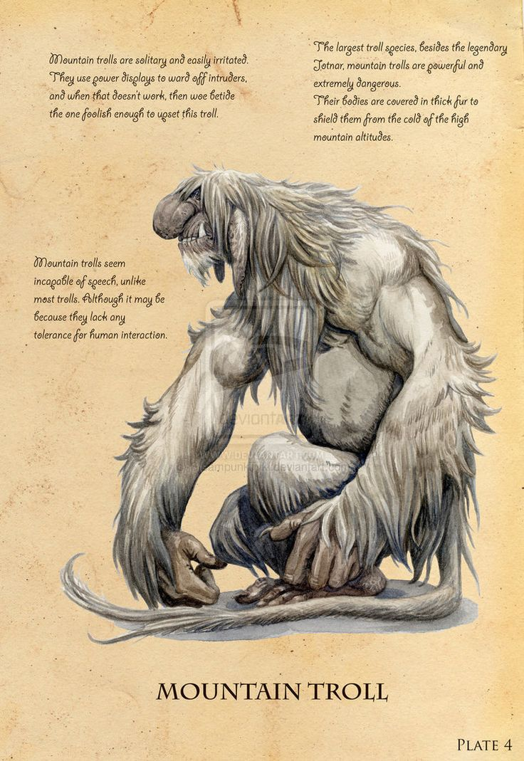 Mountain trolls are solitary creatures, easily irritated /mountain_troll_by_steampunktyki-d4y2zgn.jpg