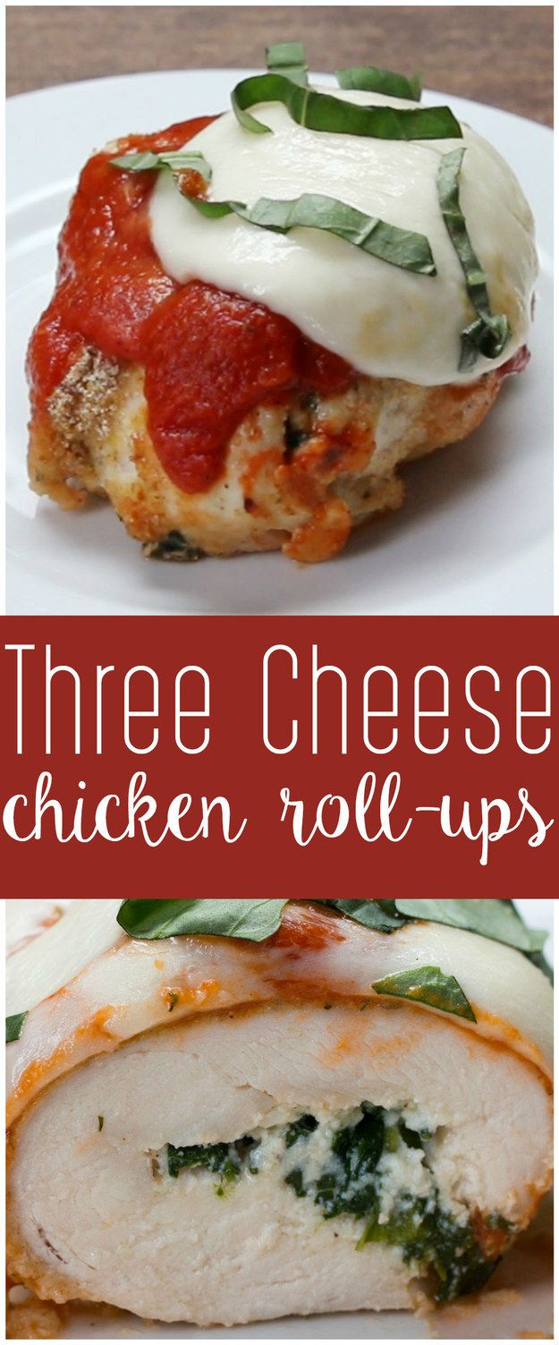 Roll These Three-Cheese Chicken Roll Ups Into Your Mouth