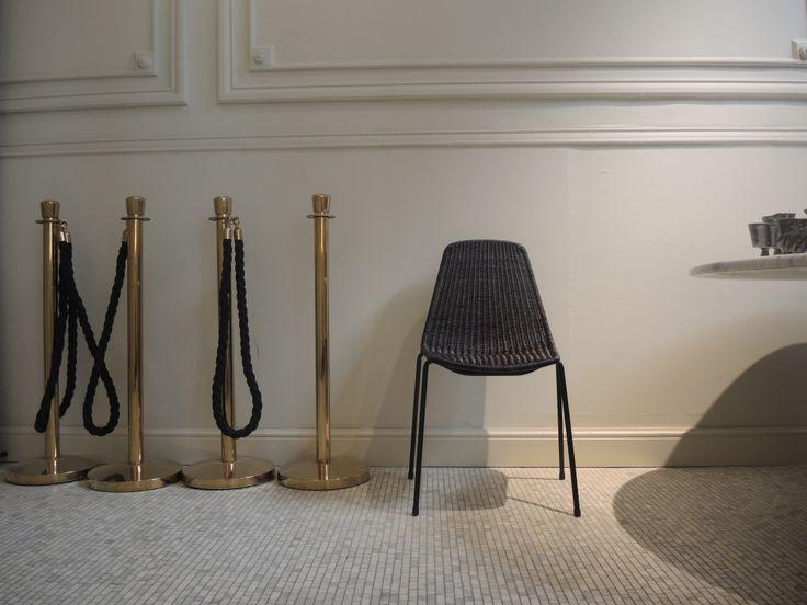 Hotel Julien - Basket Chair, slimit dark grey from Feelgood Designs