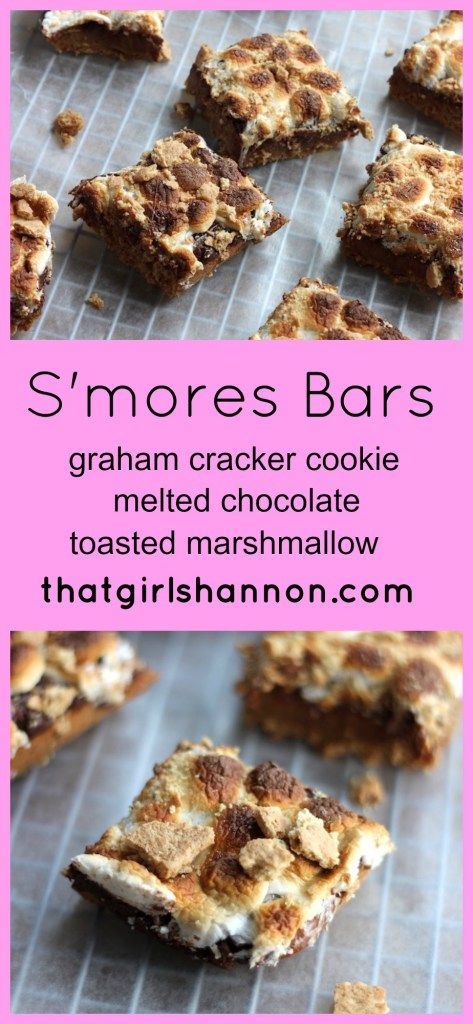 mores Bars | Recipe | Toasted Marshmallow, Melted Chocolate and ...
