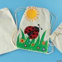 ways to decorate backpacks | How to Decorate Your Own Drawstring Backpacks thumbnail