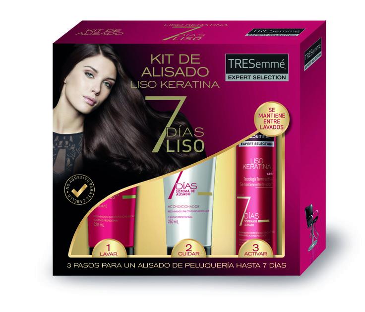 Pack de lanzamiento de la nueva línea 7 DIAS LISO. 2014. Unilever