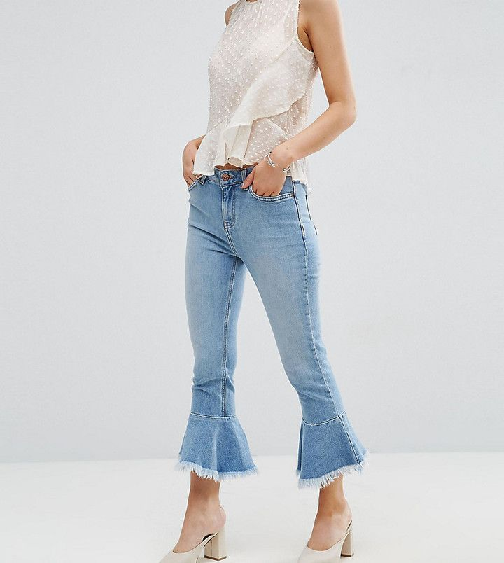 New Look Petite Peplum Kick Flare Jeans $45.00 http://shopstyle.it/l/ruSJ