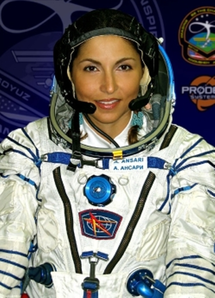 Iranian-renowned scientist in the world Anousheh Ansari - The First Iranian Woman in the world and traveled into space...