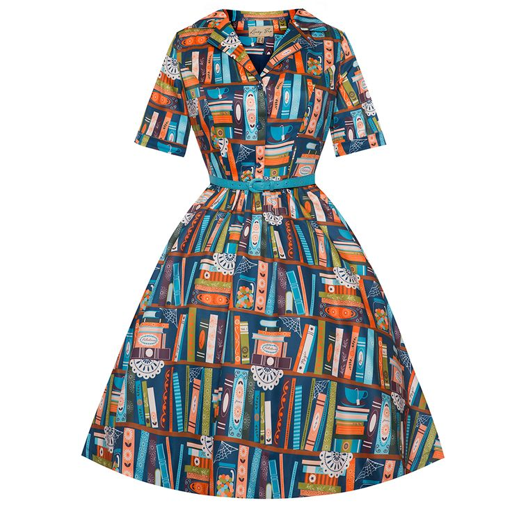 Book Shelf Retro Shirt Dress: I'm not saying that you should buy this dress for your Miss Frizzle costume for Halloween next year. Really, I'm not saying that.