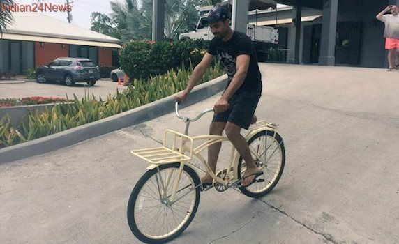 India vs West Indies: Ravindra Jadeja enjoys bike ride in Antigua