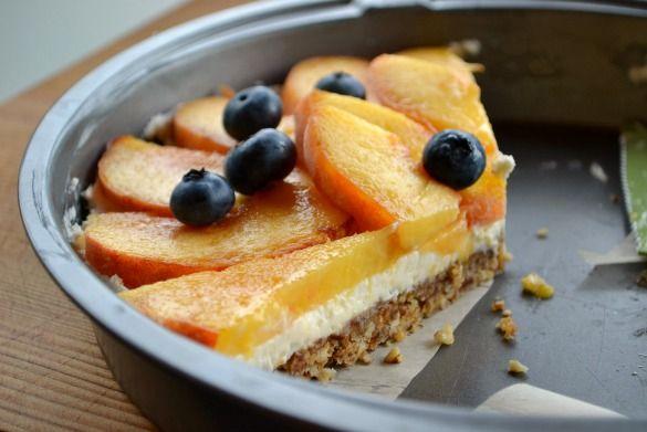 peach tart 1 (Grain free!) Peach, Pecan & Mascarpone Tart - grain free ...
