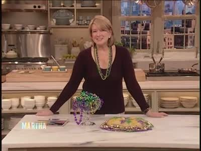 Inteview with Emily Hughes - Martha Stewart introduces a Mardi Grad show and then chats with Olympic skater Emily Hughes.