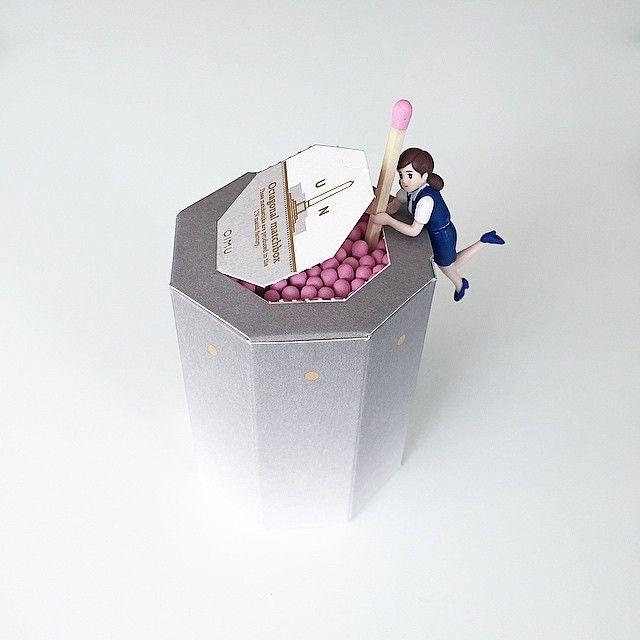 OIMU octagonal #matchbox with フチ子