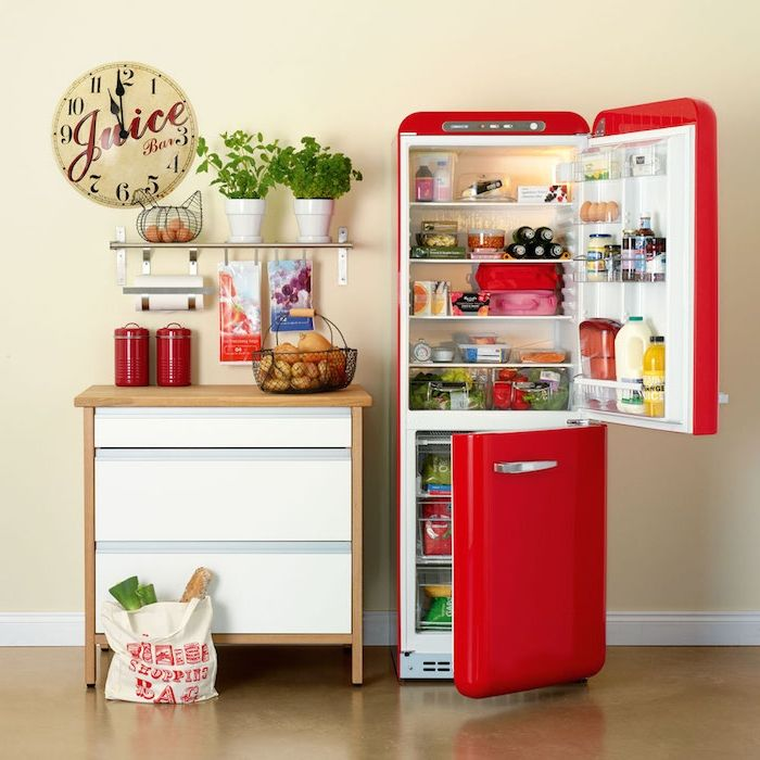 les 25 meilleures id es de la cat gorie frigo vintage sur pinterest frigo retro tabourets de. Black Bedroom Furniture Sets. Home Design Ideas