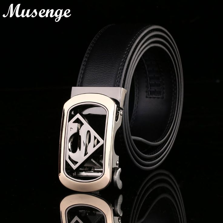Mens Belts Luxury Superman Belt Designer Belts Men High Quality Cow Leather Kemerler Automatic Buckle Ceinture Homme Ceintures