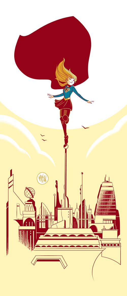 Kara Brings The Hope In Cbs Supergirl Art By Mike Maihack -9090