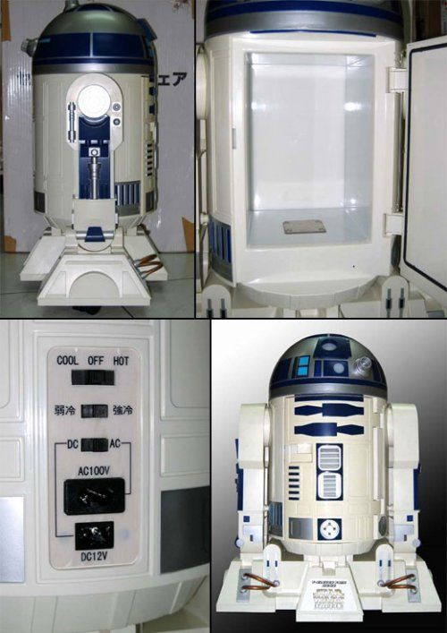 R2-D2 Mini-Fridge!  Awesome.  It looks like it's big enough to hold maybe a gallon of blue milk...