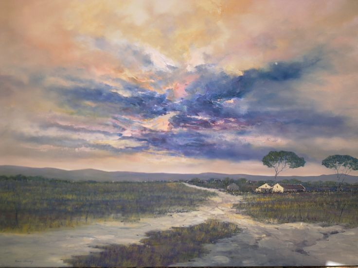 Walk to nowhere  R14500 Oil on canvas board (Boxed)