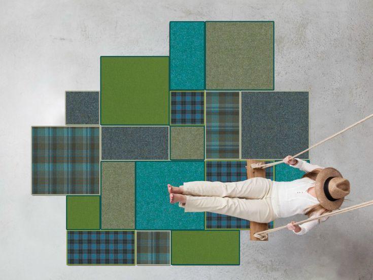 Patchwork rug BUZZIRUG PATCH by Buzzispace.   design Sas Adriaenssens