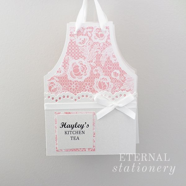 Vintage apron kitchen tea / bridal shower invitation. Created by Eternal Stationery www.eternalstationery.com.au