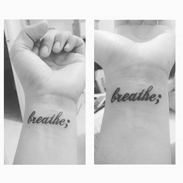 "My next tattoo will be on wrist or inner forearm and will say ""Just Breathe"""