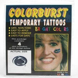 Penn State Tattoos by Penn. $4.99. Officially Licensed NCAA Product. Wear the same tattoos that the cheerleaders wear. The best quality tattoos on the market! Great to wear on game day or to show support around the office or stadium. Easy to apply and remove. Package includes 4 face temporary tattoos from Westrick.