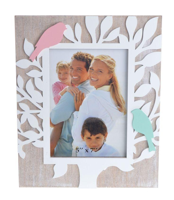 Duża ramka na jedno zdjęcie 13x18 cm. Ramka wykonana z drewna  + mdf. Ramka z dekoracją drzewka + ptaszki. Przepiękna ramka dekoracyjna , doskonała na wspaniały prezent dla kogoś bliskiego.