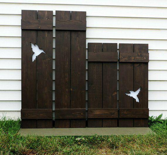 Custom Exterior Shutters Pair Of Window Wood Shutter Interior Shutte