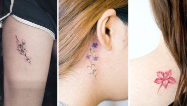 Tiny Floral Tattoo split