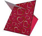 Valentijn doosje ook meteen te printen en knippen en zonder plak in elkaar te zetten. Leuk voor bijv. een bonbon.