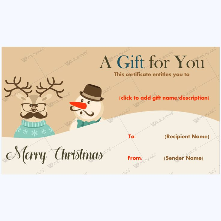 61 best Merry Christmas Gift Certificate Templates images on - microsoft gift certificate template