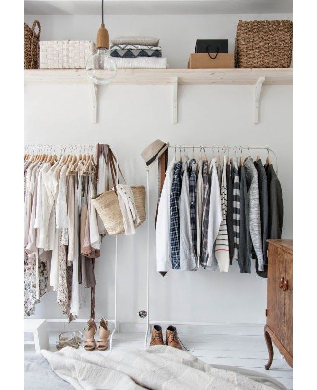 10 Organized Closets From Pinterest We Covet Organizing Small Closets And Minimalist