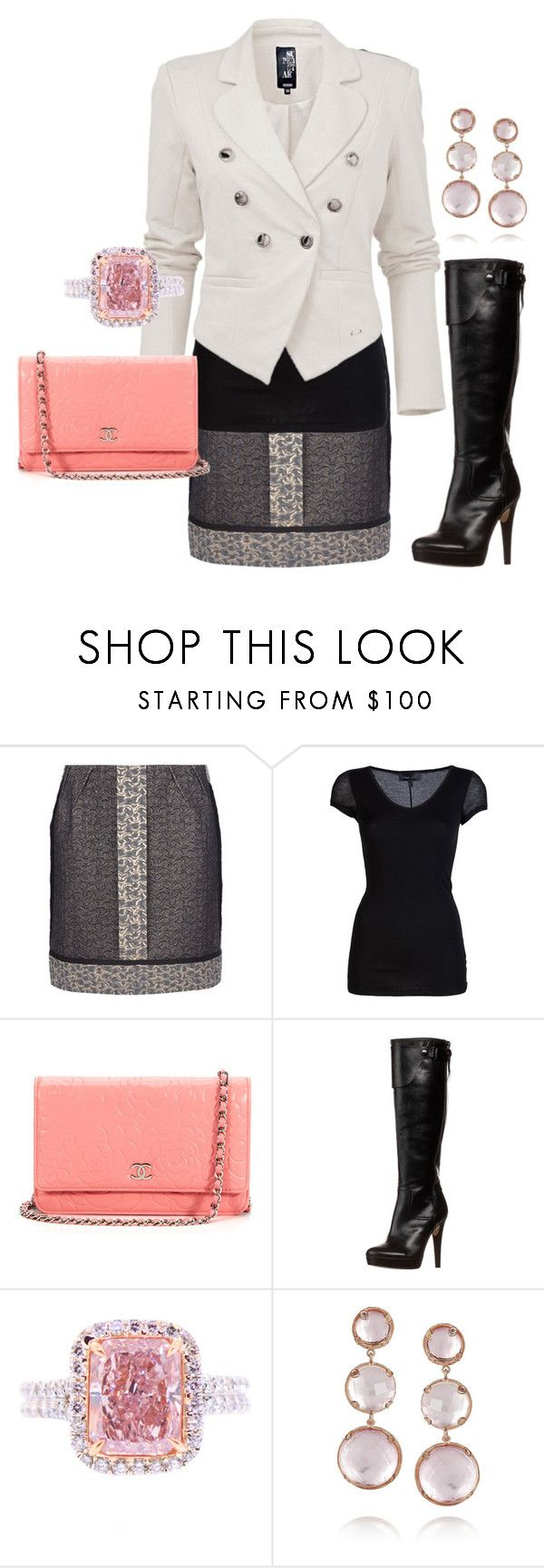 """Untitled #126"" by chloe-604 ❤ liked on Polyvore featuring Lanvin, Diesel Black Gold, Chanel, Mai Piu Senza and Larkspur & Hawk"