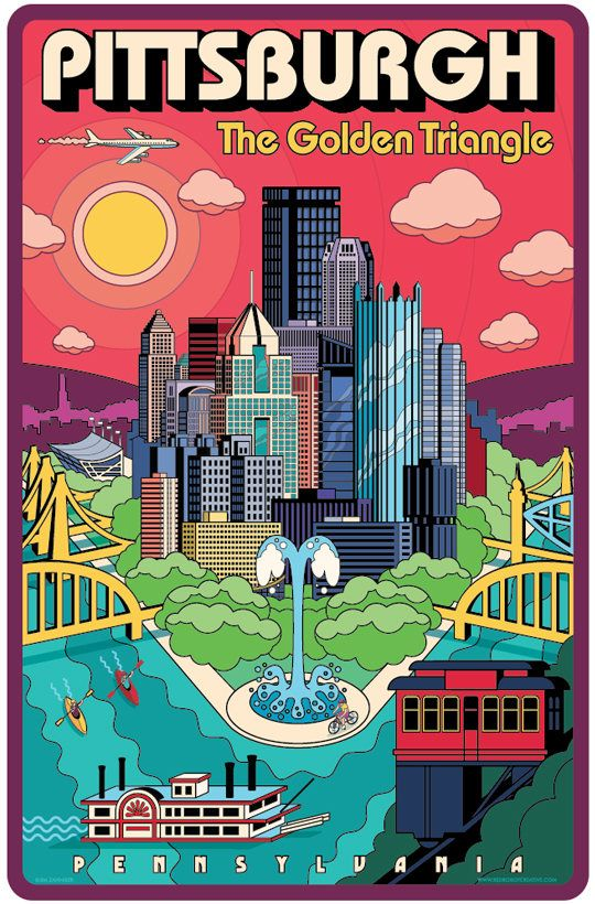 Pittsburgh Golden Triangle   Pittsburgh Poster  Pittsburgh