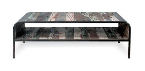 Brooklyn Finest Industrial Coffee Table with Shelf