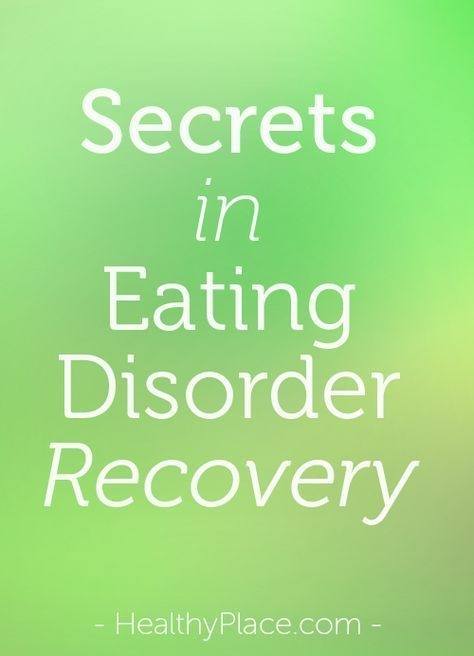 Eating disorder recovery is hindered by keeping secrets. By being honest, you can increase your chances of a full recovery from your eating disorder.   www.HealthyPlace.com