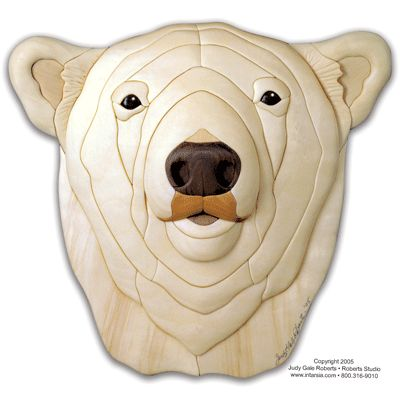 Polar Bear Intarsia Pattern