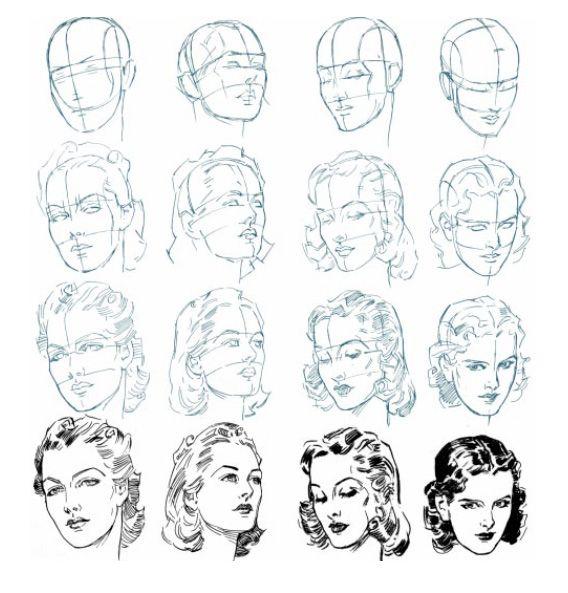 Exceptionnel Plus de 25 idées tendance dans la catégorie Dessin visage femme  JO18