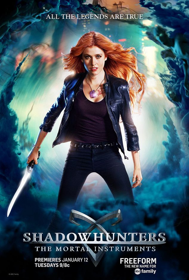 Clary Fray from Shadowhunters 101: Get to Know the Characters and the Ships  Played by: Katherine McNamara Who she is: Clary finds out on her 18th birthday that she is a Shadowhunter (a human-angel hybrid who hunts demons) and finds herself in a whole new world she never knew existed after meeting Jace and her mother is kidnapped. Who to ship her with: Either Jace or Simon.