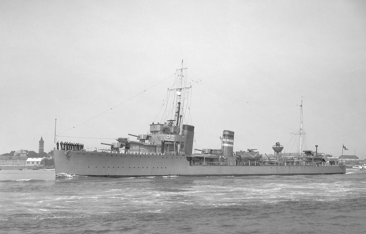 HMS Keppel (D84) Thornycroft type flotilla leader built for the Royal Navy at the end of the First World War. She was completed too late to serve in that conflict, but saw extensive service in the inter war years and in World War II. She was an effective convoy escort and U-boat killer, being credited with the destruction of five U-boats during the Battle of the Atlantic.
