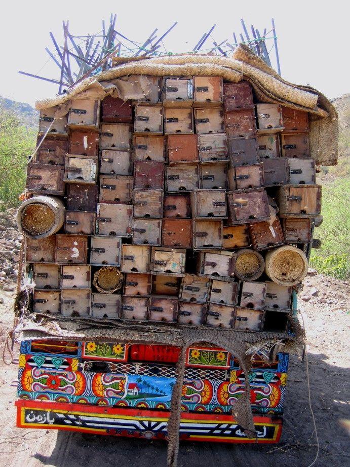 Beehives on route  www.redmoonmusings.com