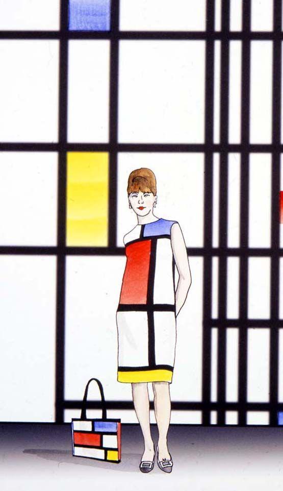 mondrian fashion sketch