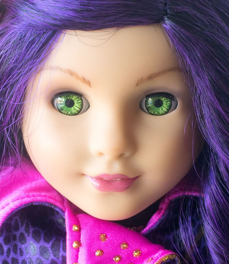 "Disney Descendants ""Mal"" Inspired Custom American Girl Doll #AmericanGirl #DollswithClothingAccessories"