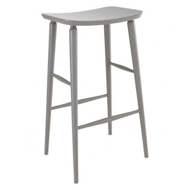 TALIA Grey bar stool H78cm