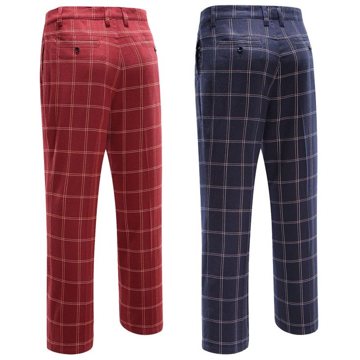 Branded POLO authentic 2015 sport golf plaid pants for men thin trousers easy care male pants fanshion colorful golf pants