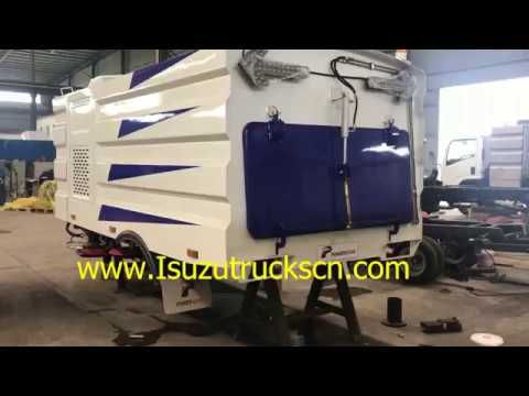 Powerstar Road sweeper structure assembly for Isuzu street sweeper truck