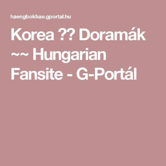 Korea 세상 Doramák ~~ Hungarian Fansite - G-Portál