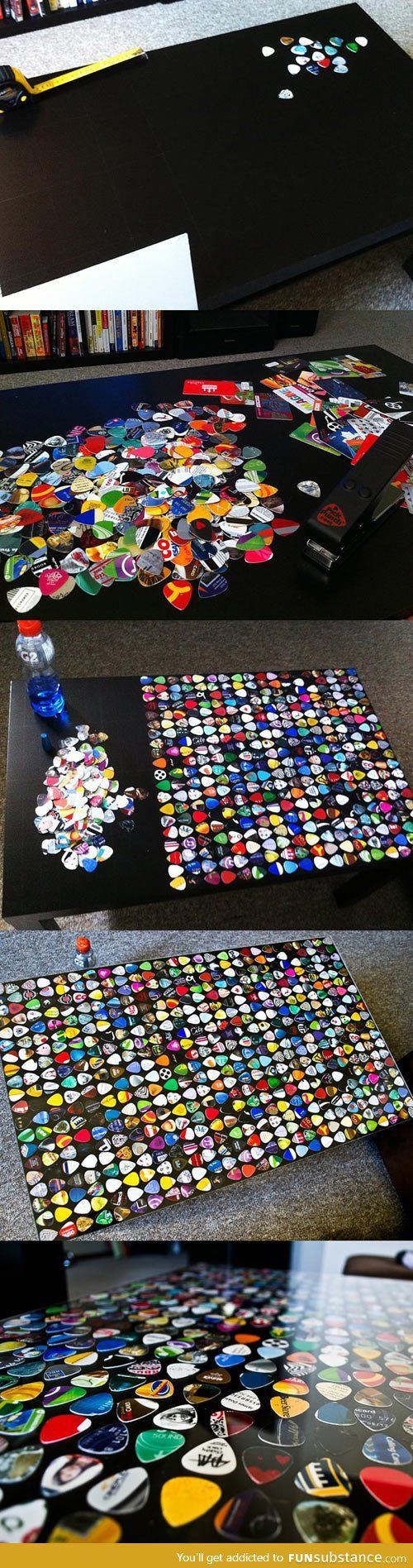 Awesome guitar pick table