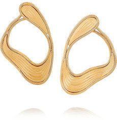Stream Lines Ohrringe aus 18 Karat Gold