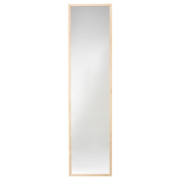 """$40 STAVE Mirror - birch effect, 15 3/4x63 """" - IKEA"""