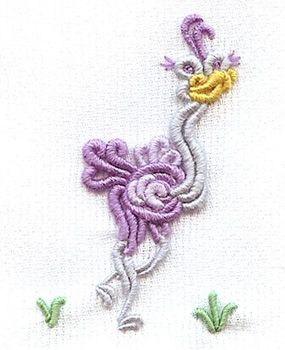 Ophelia design by Kari Mecca   http://www.karimeaway.com/secrets-to-stitching-bullion-whimsies-dvd-with-kari-mecca-hand-stitch-bullion-video/#.WLgnNfkrLIU