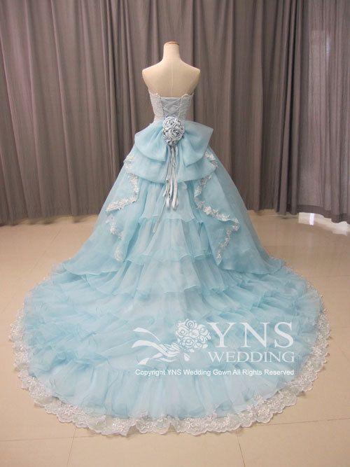 「 *。°*幸せを呼ぶカラードレス*。°* 」の画像 オーダーウェディングドレスのYNS WEDDING Ameba (アメーバ)