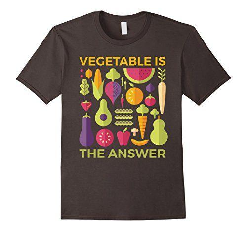 Men's Vegetable is The Answer Vegetarian Vegan Fruitarian...