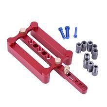 Herramientas de Perforación Para Trabajar la Perforación precisa Herramienta de Centrado Espigar Plantilla Punch Localizador Indexables Broca (Rojo)
